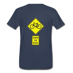 Send message to all people around you in traffic. Waer this sign everyshere with you! T-Shirts, navy.