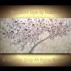 ORIGINAL acrylic painting twisted curvy tree blush pink tree painting cherry blossoms abstract bonsai tree large palette knife painting by ModernHouseArt on Etsy https://www.etsy.com/ie/listing/118293306/original-acrylic-painting-twisted-curvy