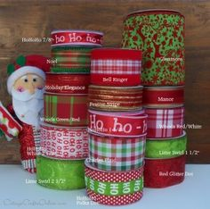 Santa's Bag of Christmas Ribbon - Cottage Crafts Online