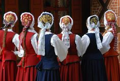 Folk costumes from Warmia region, Poland.