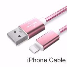 Rose Gold Line and Metal Plug Micro USB Cable for iPhone 6 6s Plus 5s 5 iPad mini / Samsung / Sony / HTC Accessory