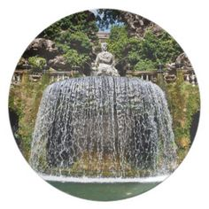 Fountain in Villa D'Este Dinner Plates - $ 27.95
