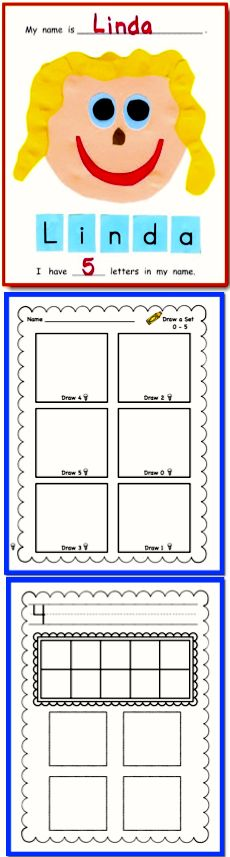 Children explore numbers in their world around them while creating this collage book. There are pages for shoe size, phone number, etc.  Now includes 5 different sets of math no-prep worksheets!   ($)