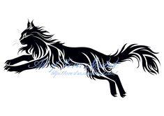 Jumping Cat Tribal Tattoo by Avestra.deviantart.com on @deviantART