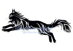 Tribal Cat Tattoo Designs | jumping cat tribal tattoo by avestra designs…