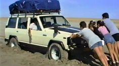 Nissan Patrol Stuck On Makgadikgadi Pans Botswana.
