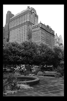 NYC. Battery Park, at the southern tip of Manhattan