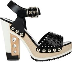 Fendi Openwork Ankle-Strap Sandals at Barneys New York