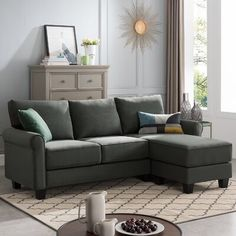 Small Couches Living Room, Small Sofa, Small Couch With Chaise, Small L Shaped Couch, Small Space Sectional, Couches For Small Spaces, Corner Couch, Corner Sectional, Chaise Sofa