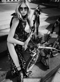 Charlene Hogger takes Paris in haute couture for Elle US January 2016 by David Burton [fashion]