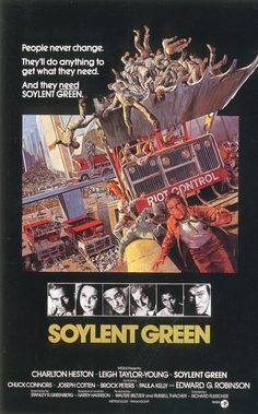 A great poster for the great 1973 movie, Soylent Green.