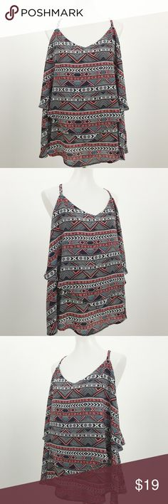 """Torrid 3 Double Layered Crossback Cami Top Very Good Pre Owned Condition - no flaws. Double Layered Sleeveless V-Neck Cami/Tank Top with Adjustable Straps. Size: Torrid 3, 3X, 22, 24. Measurements (taken with garment laying flat): Bust: 52"""" (armpit to armpit x 2) Length: 31"""" (top of shoulder to bottom hem). torrid Tops Camisoles"""