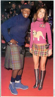 Samuel L. Jackson, African-American film star, during his promotional tour for The 51st State (aka Formula 51), in which he wore a kilt........and Chucks.