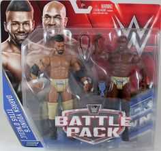 Darren Young & Titus O'Neil (Prime Time Players) - WWE Battle Packs 39 Toy Wrestling Action Figures
