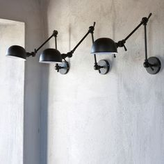 TREND: Industrial Wall Sconces Light Your Shelves — Statements in Tile/Lighting/Kitchens/Flooring Wall Sconce Lighting, Kitchen Lighting, Wall Sconces, Wall Lamps, Interior Lighting, Home Lighting, Lighting Design, Lighting Stores, Task Lighting