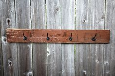 Reclaimed Wood Wall Rack / Baseball Hat Rack / Coat Rack / Cowboy Hat Rack…