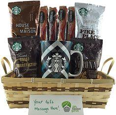 Starbucks Gourmet Coffee Gift Basket with Collectible Mug