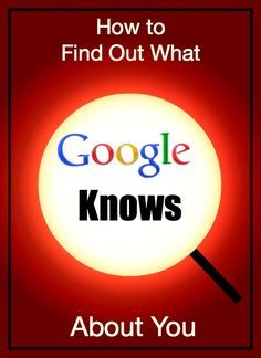 6 links that will show you what Google knows about you. If you use any Google services, such as Maps, Google Earth, Gmail, search, or YouTube, you're sharing your information to help Google match you with its advertisers. That's right, all of those free...