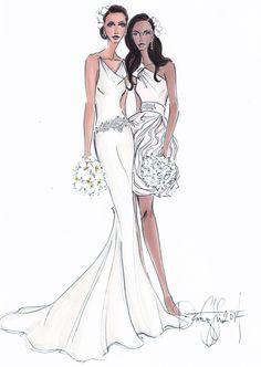 Custom Wedding Gown Illustration 2 BODIES by IllustrativeMoments