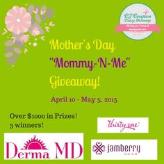 """Enter to #win the """"Mommy-N-Me"""" Mother's Day #Giveaway - Ends 5/5 - Davids DIY"""