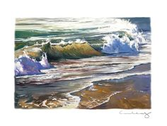 """Shorebreak in Layers"" Oil Painting on Paper Oil Painting On Paper, Oil Paintings, Watercolor Paper, Silver Surf, Blue And Silver, Paper News, Art Series, Ocean Art, Tropical Decor"