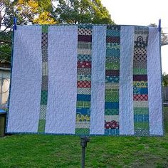 I like this idea for the backing of a quilt....