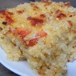 """Quinoa """"mac"""" and cheese. I added ground chicken breast. It turned out awesome! I think it may be better than real macaroni and cheese."""