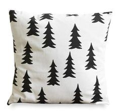 modern winter/christmas pillow idea. make a diy version with a stencil and fabric paint.