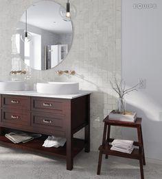 carrara75x15-brillo-bath.   By Equipe Ceramicas.
