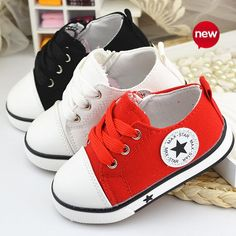 9d38485d05646d 2015 baby summer spring Canvas children s shoes star fashion sneaker kids  lace-up casual shoes for girls boys black withe red