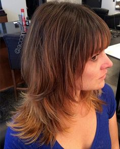 medium shag haircut for thin hair