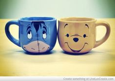 Cute Disney Coffee Mugs Picture by Infinitelyinfinite - Eeyore and Winnie the Pooh Disney Coffee Mugs, Disney Mugs, Cute Coffee Mugs, Cool Mugs, Tea Mugs, My Coffee, Coffee Cups, Morning Coffee, Bad Morning