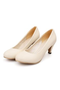 Plain Low-cut Thin Shoes Round Middle Heel Work Plus Size beige - Intl | ราคา: ฿1,443.00 | Brand: Unbranded/Generic | See info: http://www.topsellershoes.com/product/50525/plain-low-cut-thin-shoes-round-middle-heel-work-plus-size-beige-intl