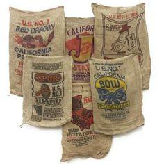 Burlap Bag Pillows