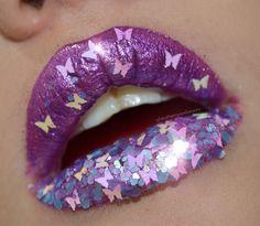 # Purple Butterflies Lips