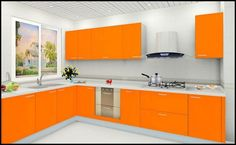 Fantastisch Kitchen:Orange Kitchen Stuff Orange Kitchen Stuff Cabinet
