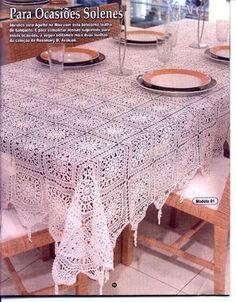 Home Decor Crochet Patterns Part 70 - Beautiful Crochet Patterns and Knitting Patterns Crochet Bedspread, Crochet Tablecloth, Crochet Doilies, Crochet Square Patterns, Knitting Patterns, Crochet Home Decor, Filet Crochet, Crochet Tops, Table Covers