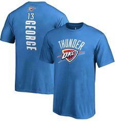 Paul George Oklahoma City Thunder Fanatics Branded Youth Backer Name & Number T-Shirt - Blue