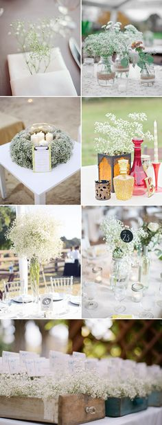 Baby's Breath Wedding Ideas - Tablescape