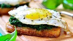 Egg and Wilted Spinach