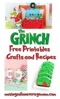 Despair In Youngsters - Realize To Get Rid Of It Wholly Grinch Free Printables, Party Ideas, Crafts And Recipes The Grinch Book, Watch The Grinch, Christmas Crafts For Kids To Make, Holiday Crafts, Easy Diy Crafts, Diy Crafts For Kids, First Birthday Parties, First Birthdays, Grinch Party