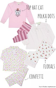 Bondville: Four In The Bed sleepwear for kids 2 to 16 Winter 2015