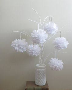 Tissue Paper PomPom Ornaments by PrettywithSprinkles