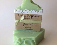 GREEN TEA Soap Handmade Soap Bar Natural  Vegan Floral  Cold Process Cp