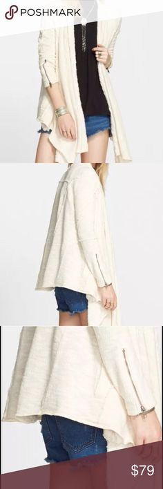 NWT Free People In The Loop Cardigan Small NWT Free People In The Loop Cardigan Sweater, size small. Tea/Cream Combo.. Free People Sweaters Cardigans