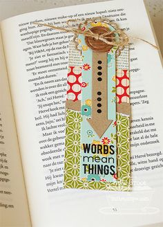 Bookmark Duo Die-namics and Stamp Set - Inge Groot
