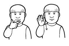 ei haittaa papunet/kuvapankki School Signs, Sign Language, Fictional Characters, Art, Eggs, Art Background, Kunst, Performing Arts, Fantasy Characters