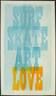 #Surf Skate Art Love from Repeat Press | Surf Skate, #Art, Surf Style // Indie Clothing Brands & UK Streetwear || AcquireGarms.com