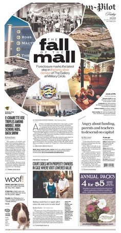 The Virginian-Pilot for April 17, 2015 via Today's Front Pages   Newseum #newsdesign #newspapers