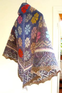 knit four corners shawl